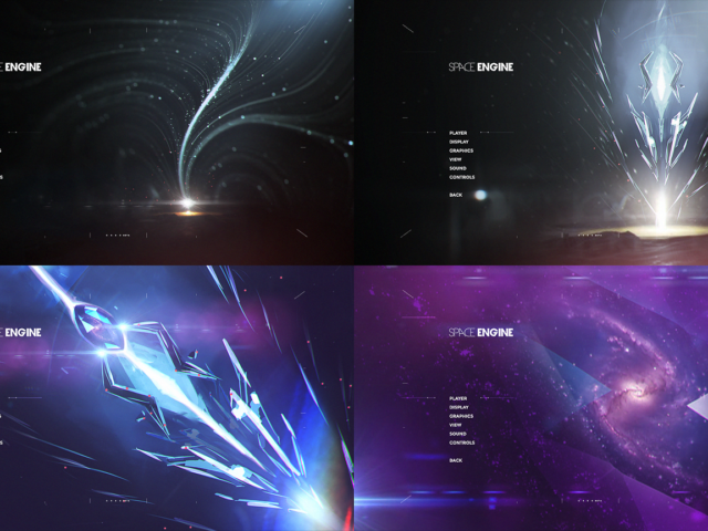 Space Engine menu